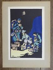 GEORGES BRUYER Gravure Couleur LE CUISTOT  ww1  Première Guerre Mondiale 1917