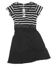 AJC Damen Kleid Shirtkleid Strandkleid Streifen schwarz Gr. 36 38 40 NEU - 247