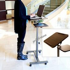 Portable Sit-Stand Desk Freestanding Adjustable Rolling Podium Church Pulpit