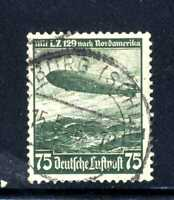1936 Germany Third Reich Zeppelin Hindenburg SC#C58 AP10 Mi#607 Used