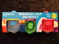 Sistema To Go Breakfast, Soup And Noodle 3 pack