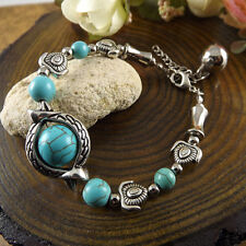 NEW Free shipping Jewelry Tibet silver jade turquoise bead DIY bracelet S266