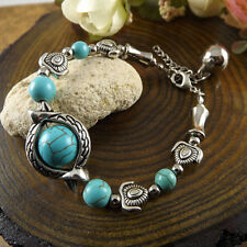 NEW Free shipping Jewelry Tibet silver jade turquoise bead DIY bracelet S266
