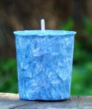 8pk BLUE DENIM Unisex Scented 160hr/pk VOTIVE CANDLES New Years Eve Party Event