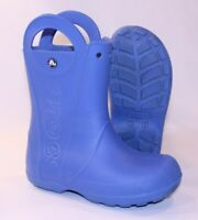 Boys Crocs 3 Shoes Waterproof Rubber Water Clog Slip-On J3 Rain Boots Blue GUC