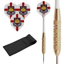 24g Brass darts set LIP STICKS Standard flights,shafts,case!