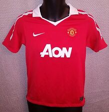 Manchester United FC Red Nike Dri-Fit Home Jersey 2010/11 EUC - Boys Large