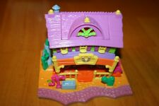 Vintage 1994 Polly Pocket Western Horse Ranch House-Complete & Works-Used