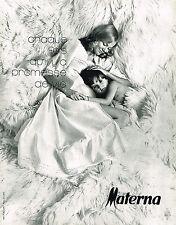 PUBLICITE ADVERTISING 045  1971  MATERNA   vetements de grossesse