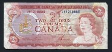 Bank of Canada C$2 TWO DEUX Dollars 1974 UB1010885 - Canadian - rainbow front