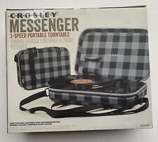 Crosley MESSENGER 3 Speed Portable Turntable Turn Table Record Player Plaid NEW