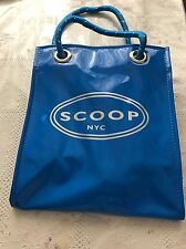 SCOOP NYC BLUE BAG STRAP 9 X 8 NEW REUSABLE  ECO FRINDLY GYM BEACH