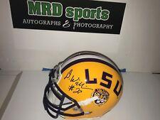 Darrel Williams Lsu Tigers hand signed mini football helmet 2018 Nfl Draft