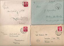 WW2  period stamp hitler GERMAN DOCUMENT  4 envelops Feldpost card