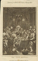 the last supper  - scarce !  circa 1780s engraving