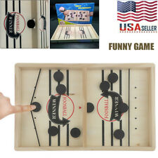 Fast Sling Puck Game Paced SlingPuck Winner Board Family Games Kid Adult Toys US