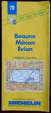 MICHELIN FRANCE 1997/98 COLOURED PAPER MAP of BEAUNE/MACON/EVIAN No 70 1:200 000