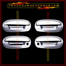 For FORD Expedition 1997-1999 2000 2001 2002 Chrome 4 Door Handle Covers KEYPAD
