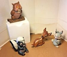 Rare Disney store Direct Bambi Owl Thumper Flower Garden statues