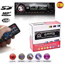 RADIO PARA COCHE AUTORADIO SD/USB/AUX FM ESTEREO MP3 1 DIN DE MANDO A DISTANCIA