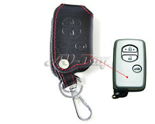 Leather Remote Key Chain Fob Holder Case Cover for TOYOTA Camry/Highlander