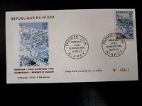 NIGER  196   PREMIER JOUR FDC     J-O GRENOBLE ,CHAMROUSSE      90F    1968