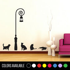 CATS & Lamp Wall Decor Decal Sticker Large