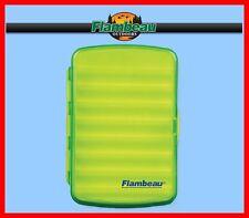 Flambeau Light Weight, Water Resistant, Green, Medium Fly or Ice Fishing Jig Box