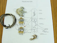NEW Tele Pots Switch & Wiring Kit for Fender Telecaster Guitar Parts EP-4130-000