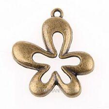 4pcs alloy Flower Floral Shape Charm Pendant beads Fit Jewelry Making 32x29mm