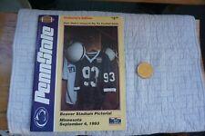 Penn State Football Beaver Stadium Pictorial 1993 + coin 1st Psu Big Ten game
