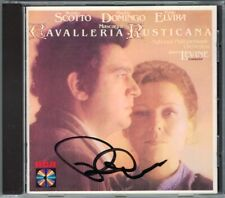 Placido DOMINGO Signed MASCAGNI Cavalleria Rusticana LEVINE CD Renata Scotto RCA