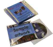 Slimdisc CD Media Space Saving Cover Sleeve Wallet Storage System 100 Pack