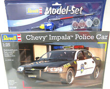 REVELL 1:25, Chevrolet Impala Police Car, Automodell, Bausatz, Komplett-Set