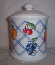 Vintage Corelle Jay Imports Fruit Too Medium Sugar Canister & Lid VERY NICE