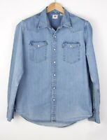 LEVI'S STRAUSS & CO Men Casual Denim Shirt Size L AMZ759