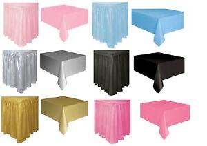 White Black Pink Gold 14ft Fringe Plastic Skirt tableskirt 54x108 Tablecover