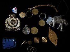 lot de bijoux argent massif ,plaqué or ,broche etc