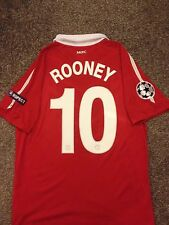 MANCHESTER UNITED 2010/11 CHAMPION LEAGUE HOME SHIRT ADULTS(M) 10 ROONEY