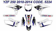 5224 YAMAHA YZF 250 2010 2011 2012 2013 DECALS STICKERS GRAPHICS KIT