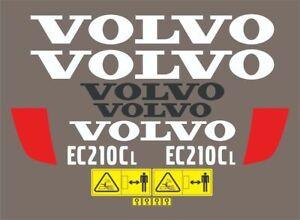 Volvo EC210CL Excavator Decals / Adhesives / Stickers Complete Set / Kit