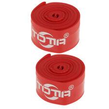 2Pcs 700C High Pressure Nylon Bike Bicycle Tire Protector Rim Tape Strap Red