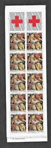 HICK GIRL- M.N.H. FRANCE BOOKLET PANE OF 10  SC#B574a  1985 ALTARPIECE     A1
