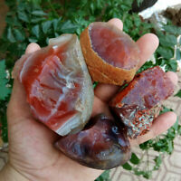 100g Lot Natural Rough Carnelian Raw Stone Crystal Red Agate Mozambique Craft
