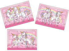 6 Unicorn Jigsaw Puzzles - Pinata Toy Loot/Party Bag Fillers Kids Maze Girl Pink