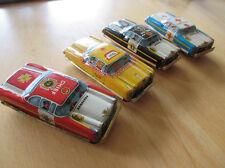 4x original tn Nomura japón chapa auto Tin Toy car 1960er nos sin usar