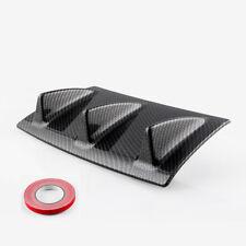 Flosse Stil Kfz Heckstoßstange Lippe Diffusor Heckansatz Carbon Look 35x15CM 1x