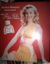 MARILYN MONROE TRU-GLO Liquid Make-Up TIN SIGN