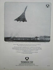 6/1969 PUB THOMSON-CSF TOULOUSE ILS STATION BLAGNAC CONCORDE 001 TEST FLIGHTS AD