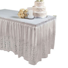 Lace Printed Table Skirt Bridal Shower Party Decoration Wedding Decor